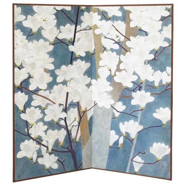 Japanese Floral Screen - Image 1 of 4
