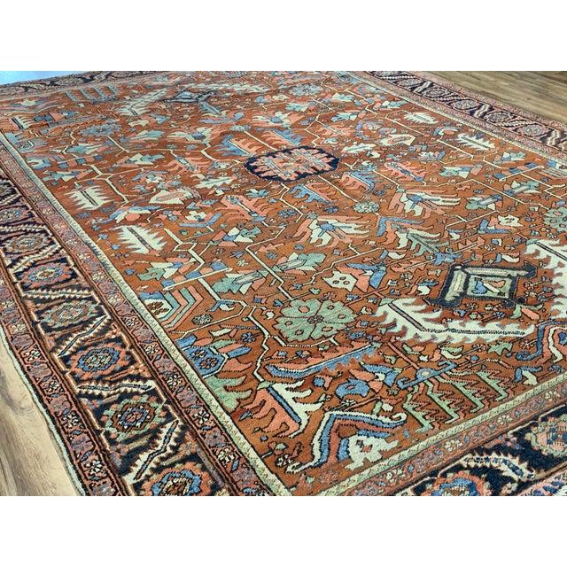 Antique Persian Sarapi Rug For Sale In Nashville - Image 6 of 12