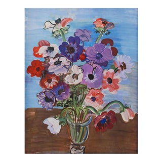 """1940s Raoul Dufy """"Bouquet"""" First Edition Period Swiss Lithograph For Sale"""