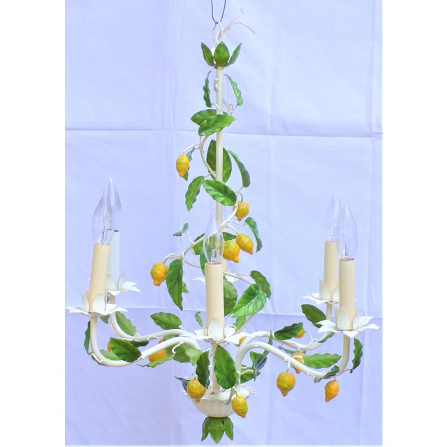 Shabby Chic Vintage Italian Lemon Tree Chandelier For Sale - Image 3 of 13