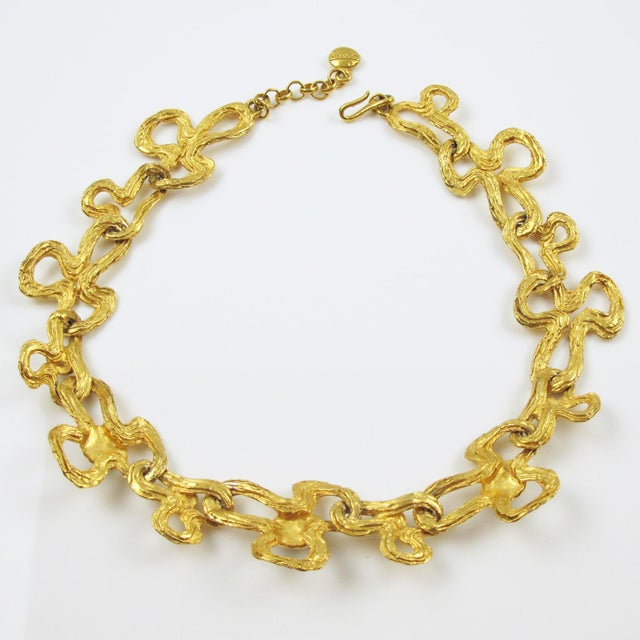 Metal Lanvin Paris Choker Necklace Gilt Metal Pearl and Glass Cabochon For Sale - Image 7 of 10