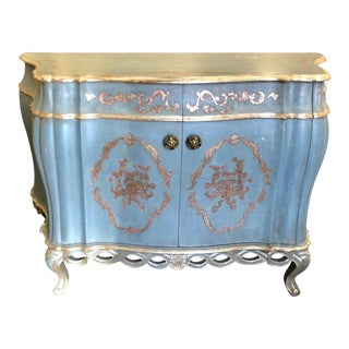 Superb Versailles French Painted Deep Bombay Chest or Buffet For Sale
