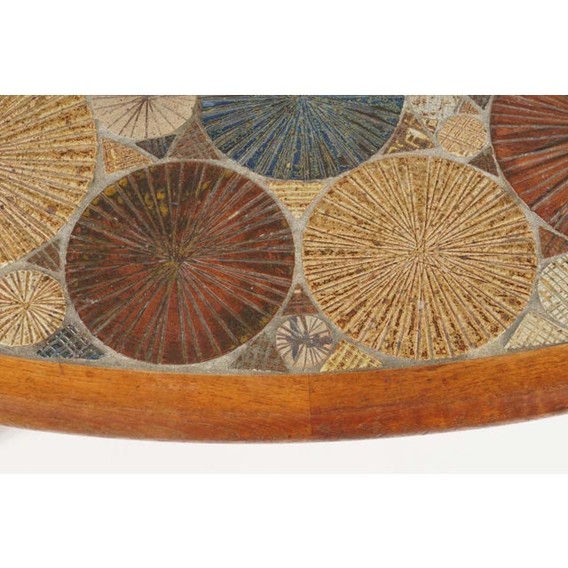 Teak Tue Poulsen Ceramic Art Tile Coffee Table by Haslev 1960s Made in Denmark For Sale In New York - Image 6 of 12