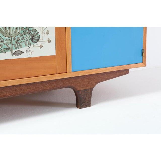 Modernist Sideboard With Perignem Ceramic and Macassar Details For Sale - Image 10 of 12