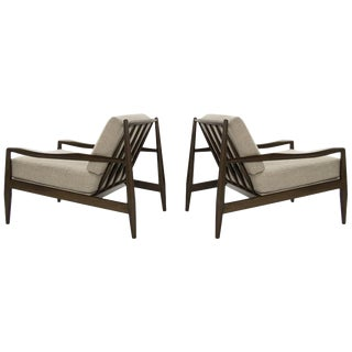 Adrian Pearsall Walnut Model 834-C Lounge Chairs, Circa 1950s - a Pair For Sale
