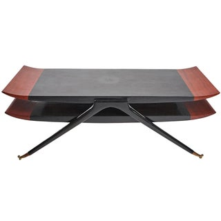 Italian Modernist Coffee Table Attributed to Gio Ponti For Sale