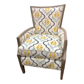 Transitional Fairfield Weathered Wood Trim Lounge Chair