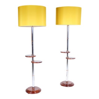 Pair of floor lamps « art deco » 1935