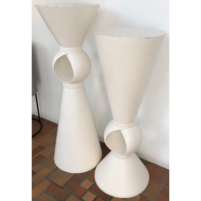 Mid-Century Modern Sculptural Set of Two Pedestals For Sale - Image 3 of 8
