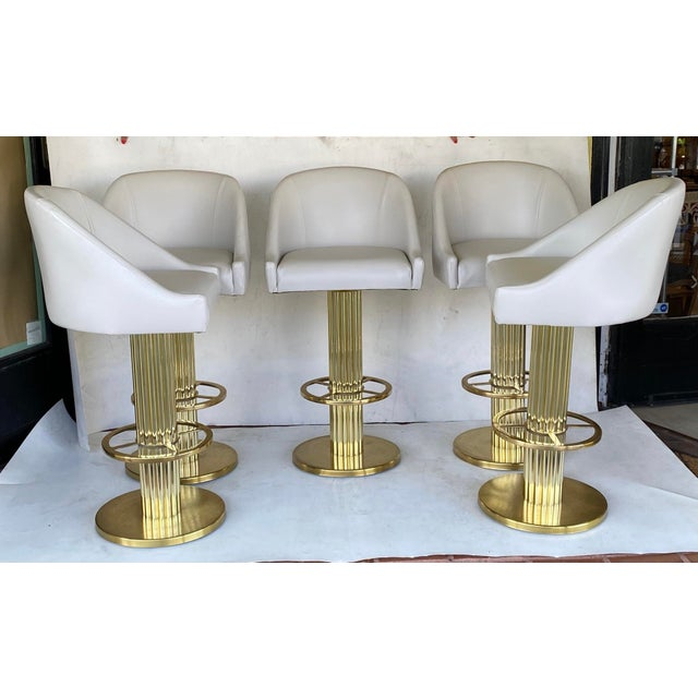 1980s Vintage Designs for Leisure Barstools - Set of 5 For Sale - Image 12 of 12