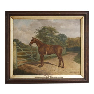 """1900s Country """"May Day"""" Portrait of Winning Racehorse of First Prize Brentwood"""