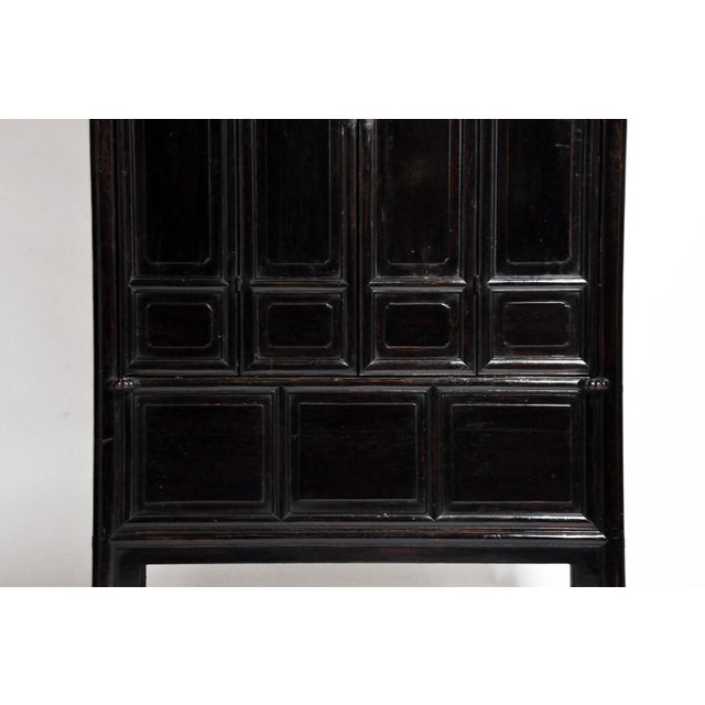Qing Dynasty Chinese Clothing Cabinet With Four Drawers For Sale - Image 10 of 13