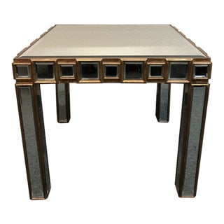Modern Mirrored Side Table For Sale
