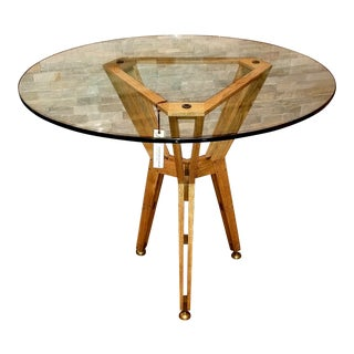 Jonathan Charles Architectural Circular Centre Table For Sale
