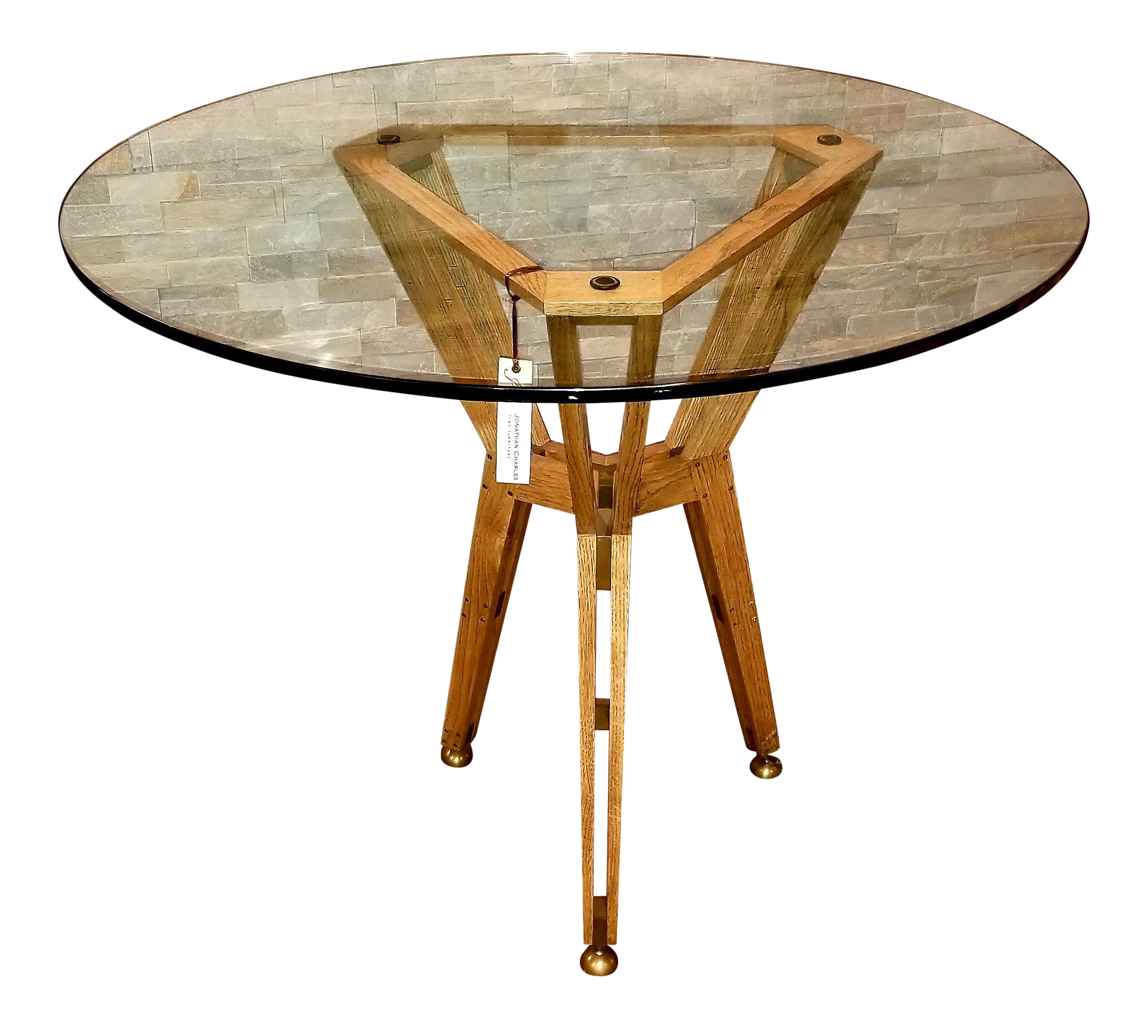 Jonathan Charles Architectural Circular Centre Table