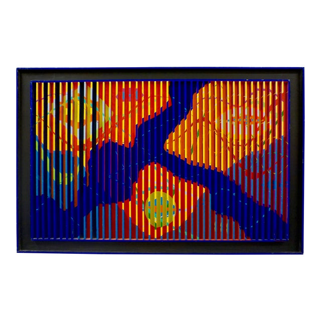 Abstract Painted Relief by Louis Nadalini For Sale