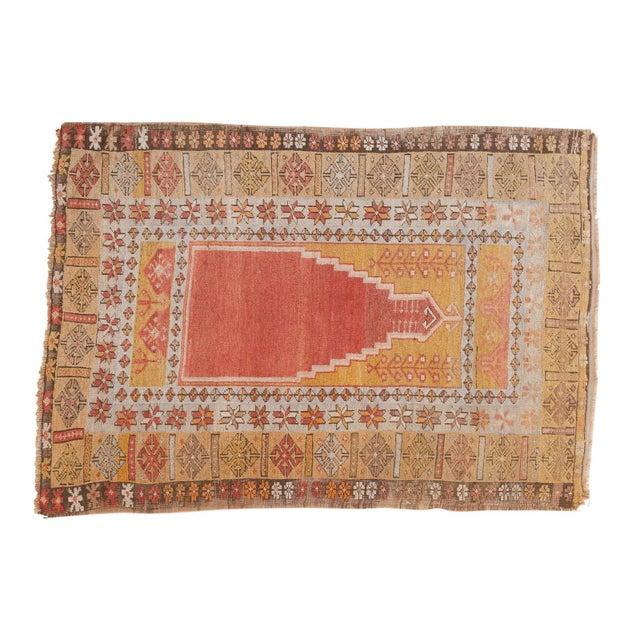 """Vintage Turkish Prayer Rug - 3'8"""" x 5'2"""" For Sale - Image 13 of 13"""