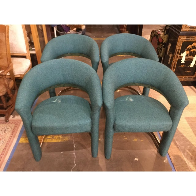 Carsons Vintage Milo Baughman for Carson Chairs- Set of 4 For Sale - Image 4 of 6