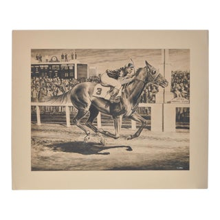 1950s Vintage Original Churchill Downs Illustration by Charles Ellis For Sale