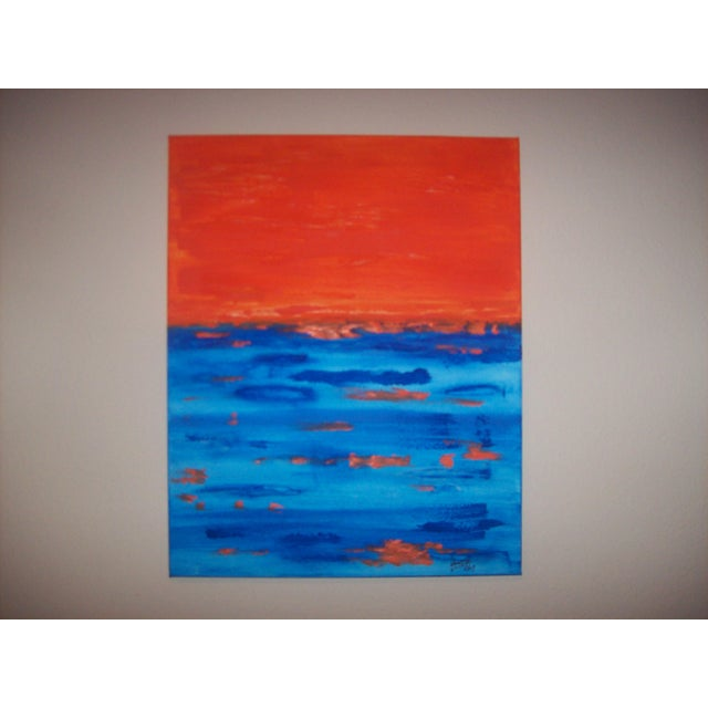 "Abstract ""Driving 'Till Sunset"" Mixed Media Painting For Sale - Image 3 of 4"