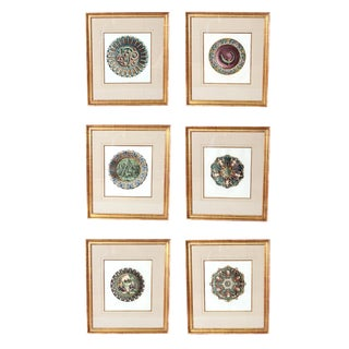 Palissy Ware Lithographs, Group of Six (6), by Rose-Joseph Lemercier For Sale