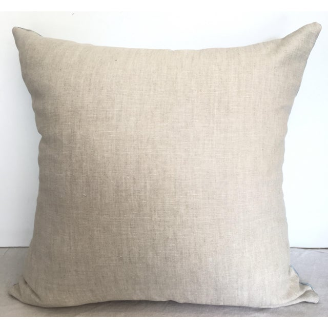 Contemporary Designer Green & Gray Embroidered Pillow Cover For Sale - Image 3 of 4