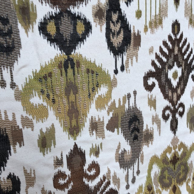 Ikat Woven Fabric - 7 Yards For Sale - Image 4 of 5
