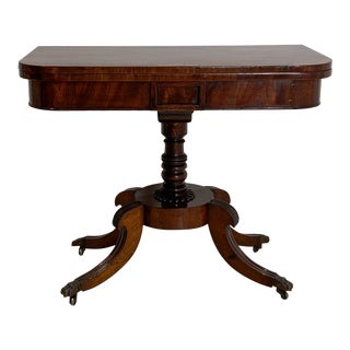 Regency Pedestal Game Table, American Early 19th Century For Sale
