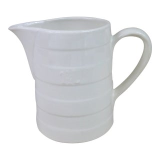 Late 19th Century Belgian Ironstone Banded Pitcher For Sale