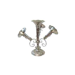 Epergne With 4 Tussie-Mussie Vases For Sale