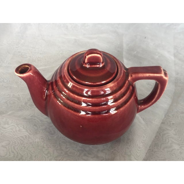 Vintage 1940s Usa Pottery Teapot For Sale - Image 9 of 13