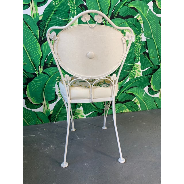 1960s Vintage Woodard Wrought Iron Bistro Set For Sale - Image 5 of 13