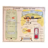 Image of Vintage Mid-Century Automobile Car French School Poster For Sale