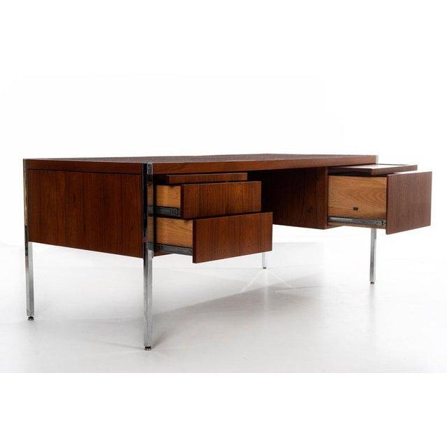 Chrome Richard Schultz Executive Desk For Sale - Image 7 of 12