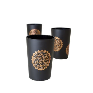 Massira Bronze Tea Glasses - Set of 6 For Sale