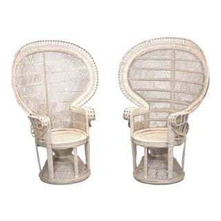 Rattan Peacock Chairs - a Pair