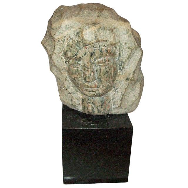 Modernist Marble Sculpture on Granite Base For Sale