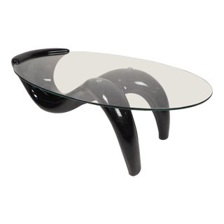 Contemporary Modern Sculpted Fiberglass Coffee Table For Sale