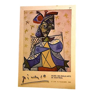 Pablo Picasso Original Exposition Poster 1985 Montreal Museum of Fine Arts