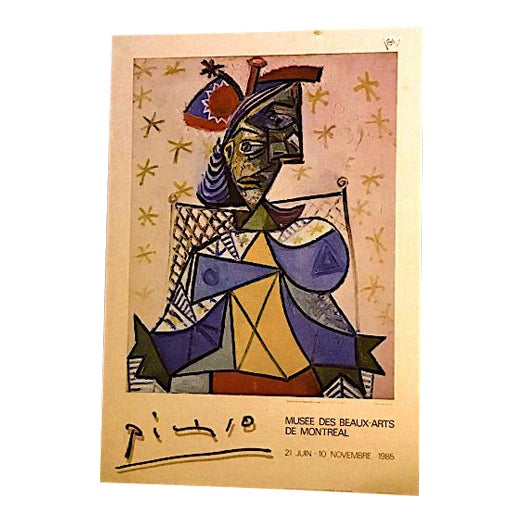 Pablo Picasso Original Exposition Poster 1985 Montreal Museum of Fine Arts For Sale