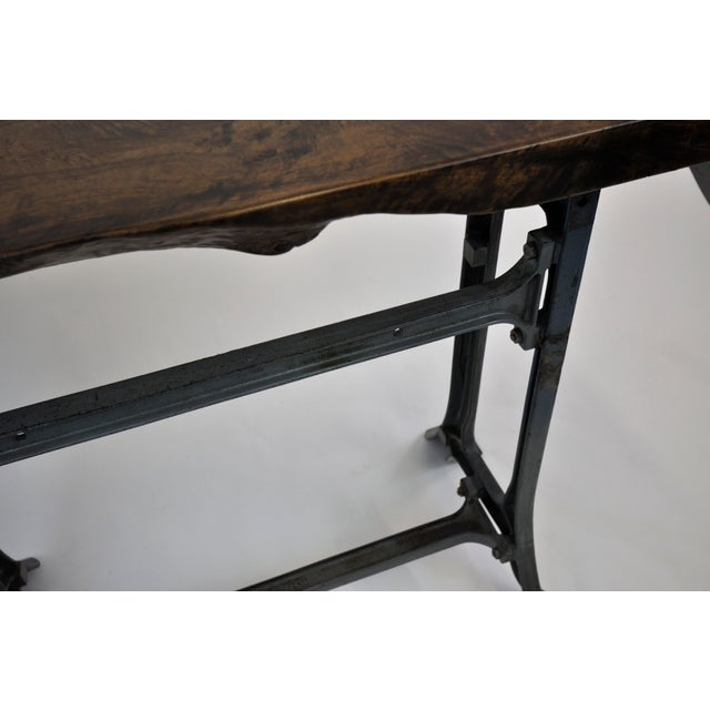 Handmade Walnut & Steel Console Table - Image 8 of 10
