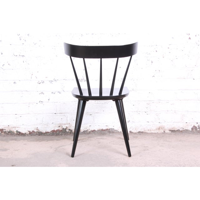 Wood Paul McCobb Ebonized Planner Group Dining Chairs, Set of Six For Sale - Image 7 of 9