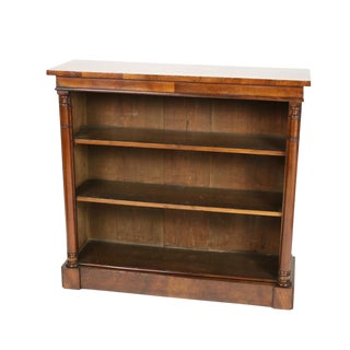 1830s Regency Period Low Open Bookcase For Sale