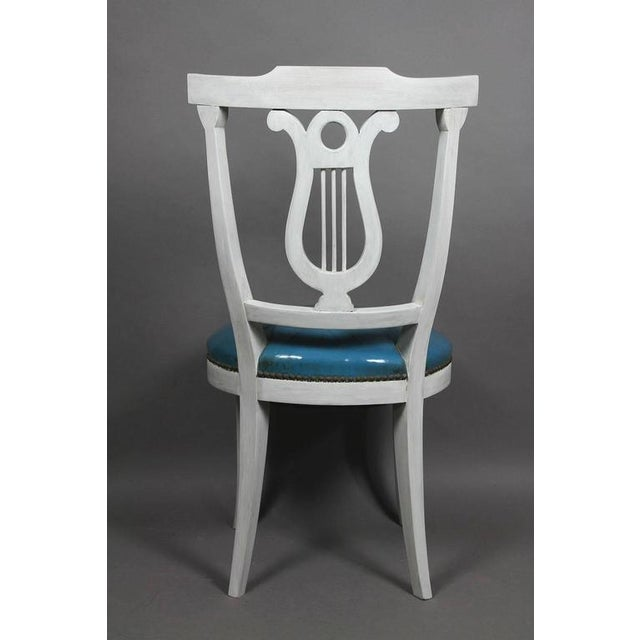 Neoclassical Set of Six Neoclassic Style Painted Dining Chairs For Sale - Image 3 of 5