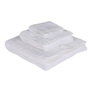 Matteo Riviera White 3 Piece Towel Set For Sale
