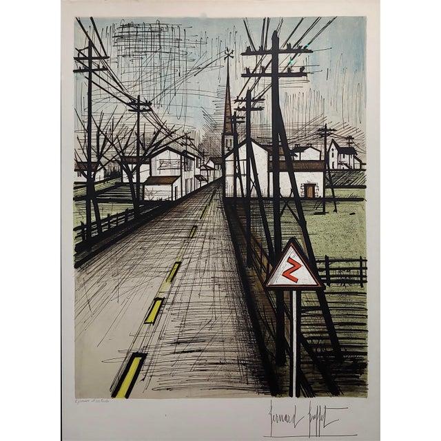 1960s Bernard Buffet - French Street -Original 1961 Artist Proof Lithograph For Sale - Image 5 of 10
