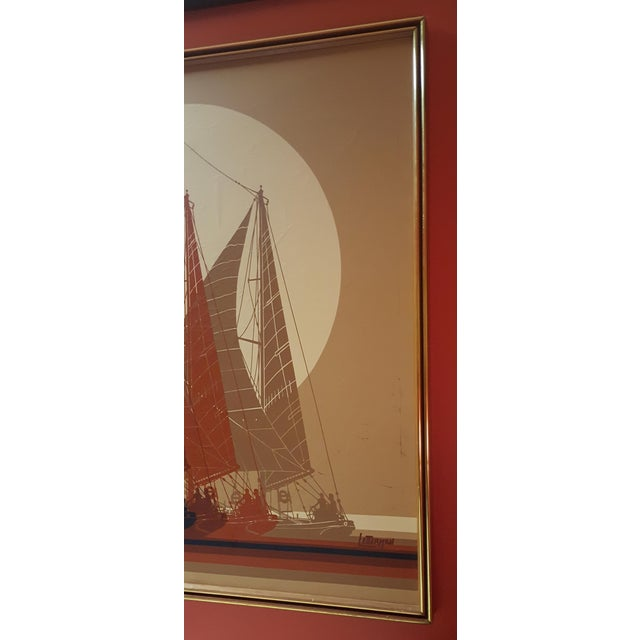 letterman sailboat framed art chairish