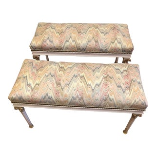 Louis XVI Benches - a Pair For Sale