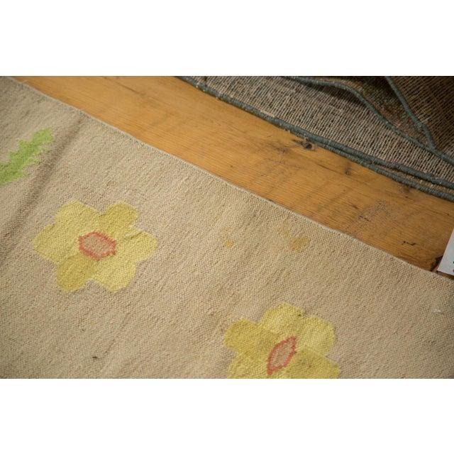 """Vintage Minimalist Dhurrie Carpet - 8'9"""" X 11'10"""" - Image 9 of 10"""