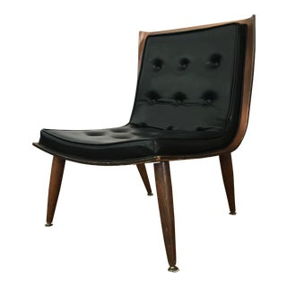 1950s Mid-Century Modern Carter Brothers Scoop Chair For Sale